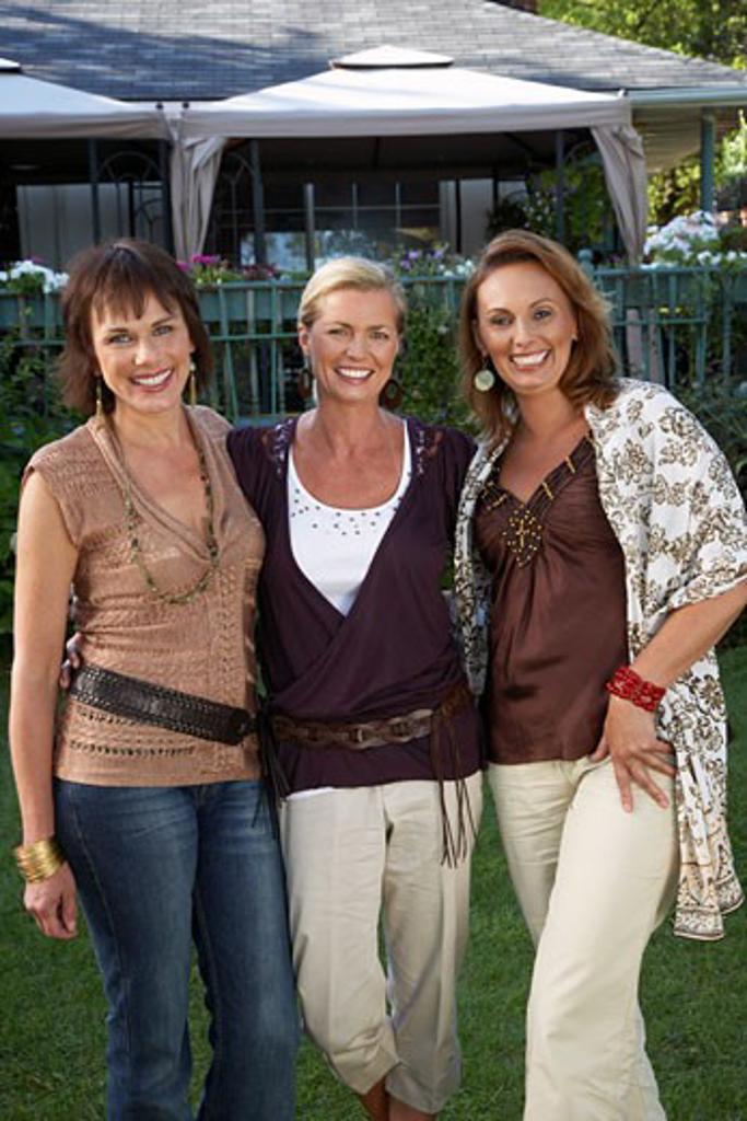 Portrait of Women Outdoors    : Stock Photo