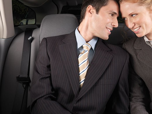 Stock Photo: 1828R-21874 Man and Woman in Car