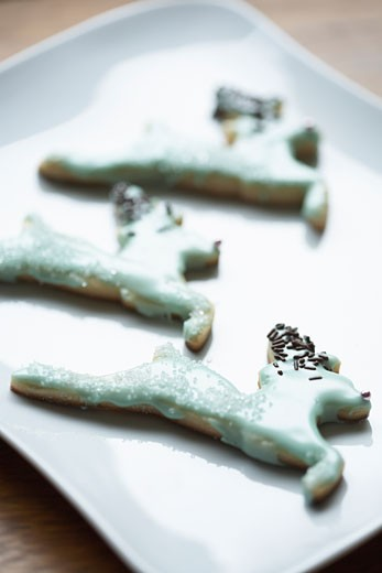 Plate of Christmas Cookies    : Stock Photo