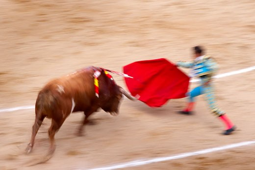 Stock Photo: 1828R-22066 Bullfight, Las Ventas, Madrid, Spain