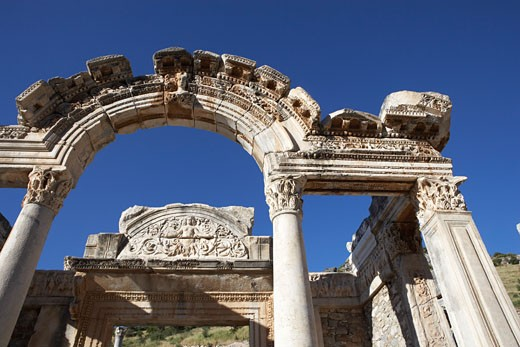 Stock Photo: 1828R-22638 Ancient Building in Ephesus, Turkey