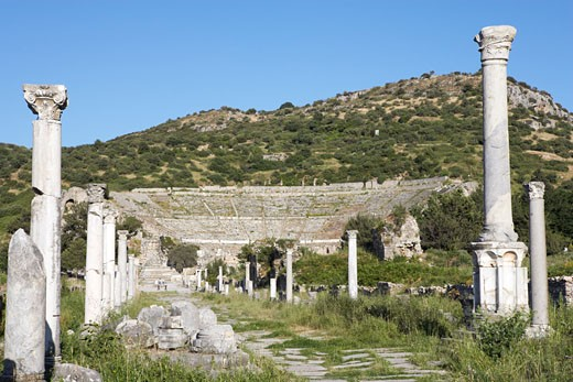 Stock Photo: 1828R-22640 Ancient City of Ephesus, Turkey