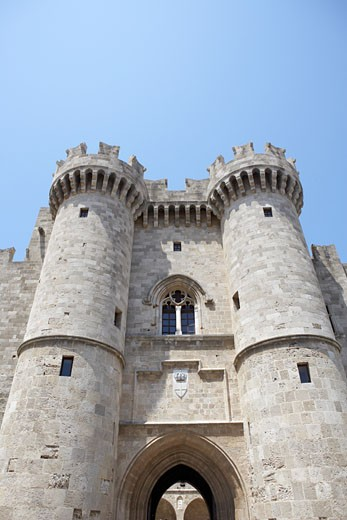 Exterior of Castle, Rhodes, Greece    : Stock Photo