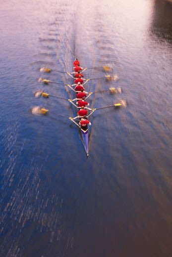 Stock Photo: 1828R-22798 Overview of Rowing