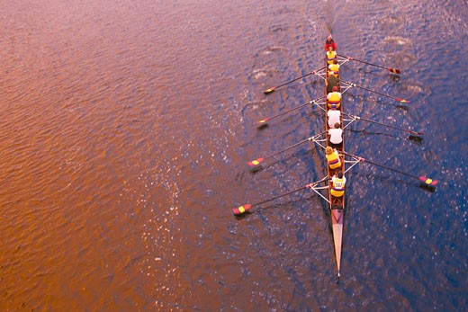 Stock Photo: 1828R-22805 Overview of Rowing