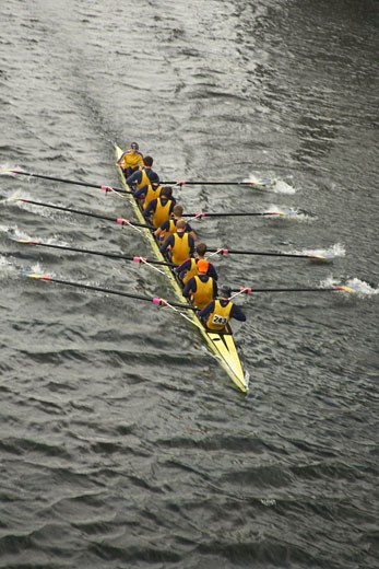 Stock Photo: 1828R-22807 Overview of Rowing