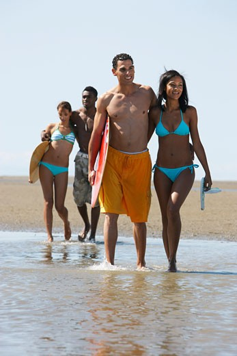 Stock Photo: 1828R-23084 Group of People at Beach