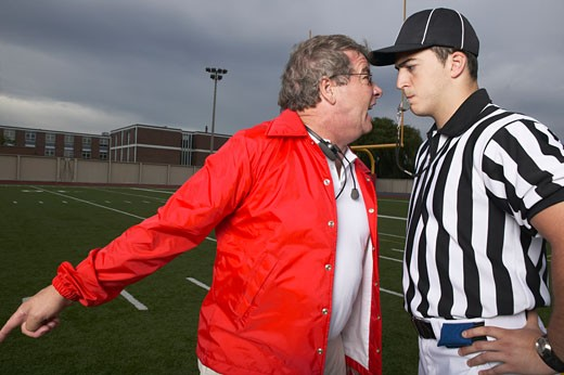 Stock Photo: 1828R-23446 Coach Yelling at Referee
