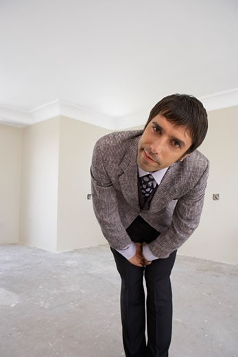 Portrait of Man in House    : Stock Photo