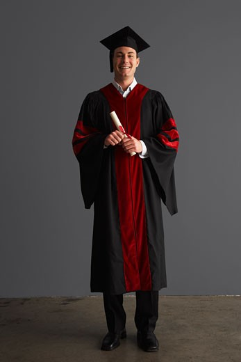 Stock Photo: 1828R-23830 Portrait of University Graduate
