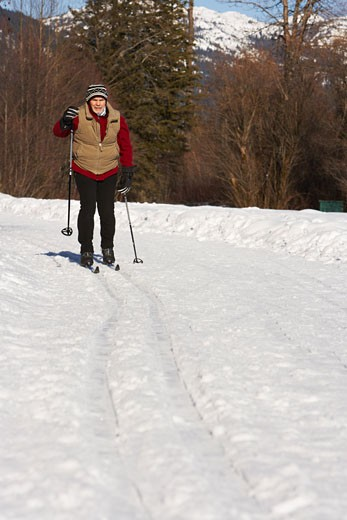 Man Skiing    : Stock Photo