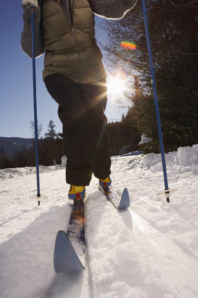 Stock Photo: 1828R-24507 Woman Skiing