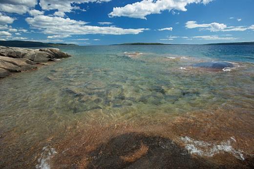 Shoreline, Lake Superior, Rainbow Falls Provincial Park, Ontario, Canada    : Stock Photo