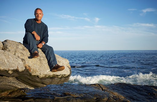 Portrait of Man, Pemaquid Point, Maine, USA    : Stock Photo