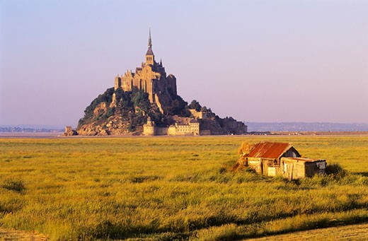 Stock Photo: 1828R-25259 Mont Saint Michel, Normandy, France