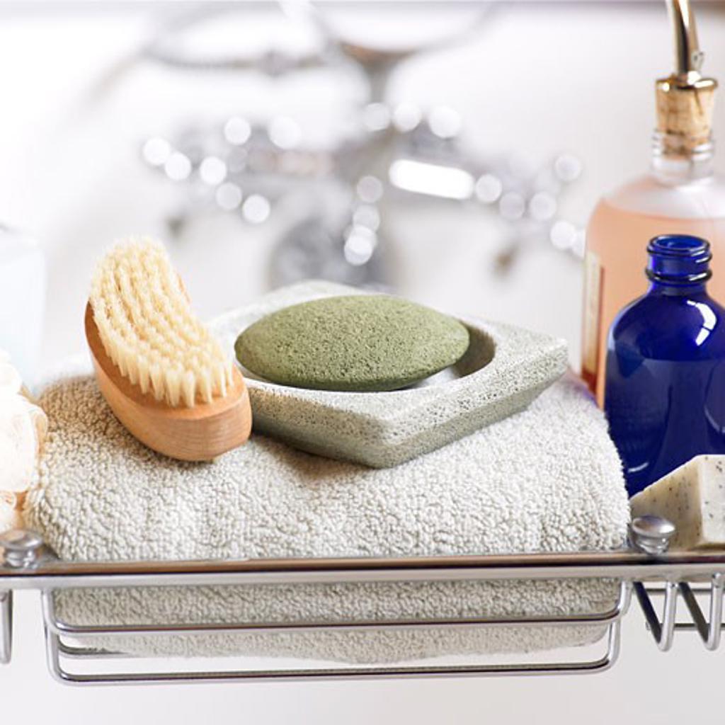 Nail Brush and Pumice Stone    : Stock Photo