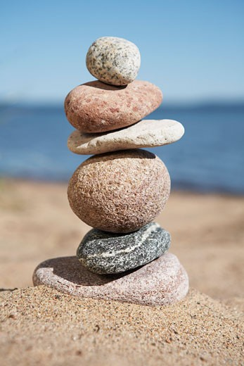 Stock Photo: 1828R-25357 Pile of Stones