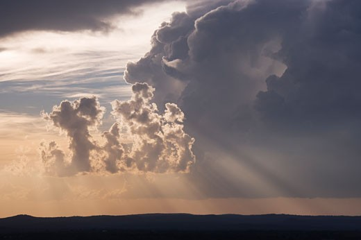 Stock Photo: 1828R-25498 Storm Clouds