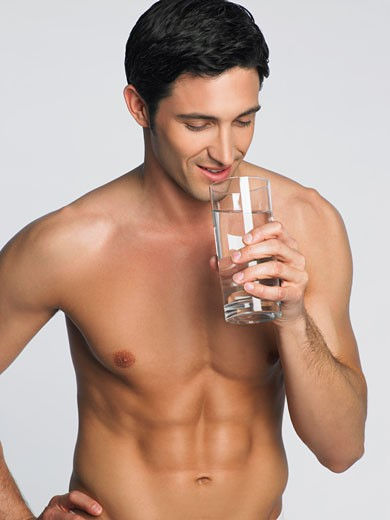 Man Drinking Water    : Stock Photo