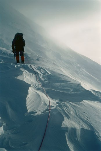 Mountaineering, Mt. Steele Expedition, St. Elias Mountains Yukon Territory, Canada    : Stock Photo
