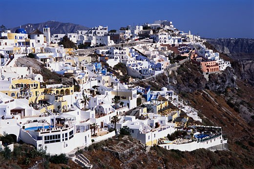 Firostefani, Santorini, Greece    : Stock Photo