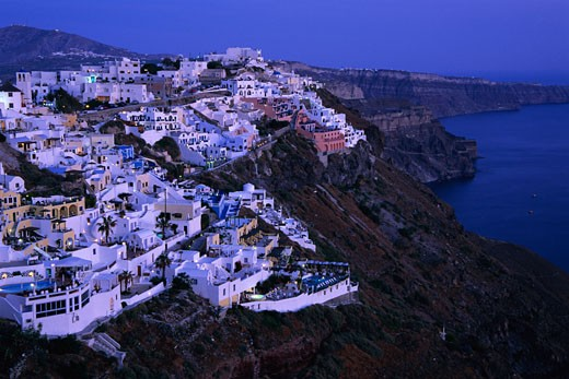 Stock Photo: 1828R-26302 Firostefani, Santorini, Greece