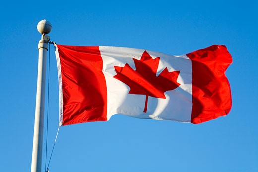 Stock Photo: 1828R-26732 Canadian Flag