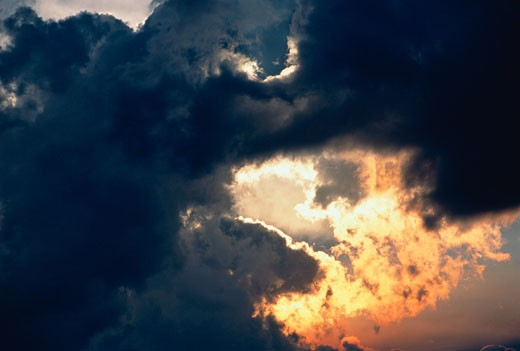 Stock Photo: 1828R-2678 Clouds at Sunset