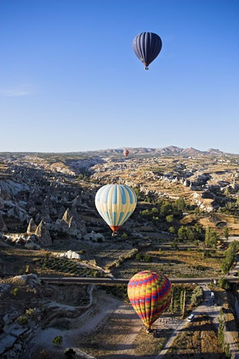 Stock Photo: 1828R-26901 Hot Air Balloons, Goreme Valley, Cappadocia, Turkey