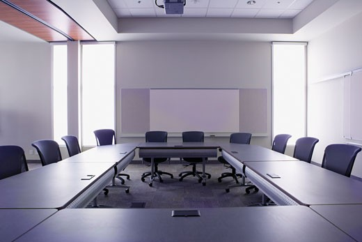Stock Photo: 1828R-27510 Empty Boardroom