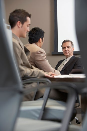 Businessmen at Meeting    : Stock Photo