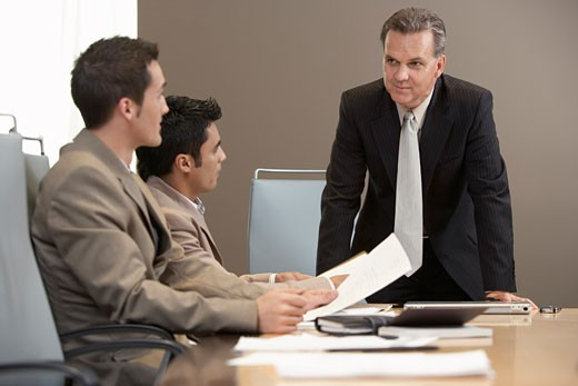 Stock Photo: 1828R-27589 Business People at Meeting