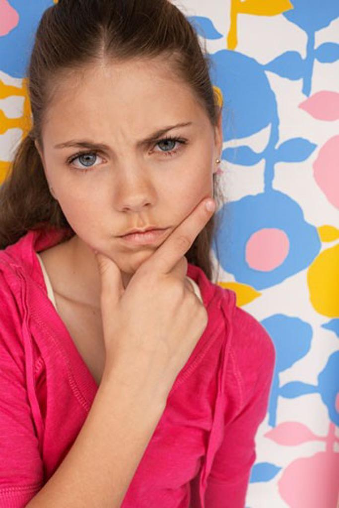 Stock Photo: 1828R-27674 Portrait of Girl