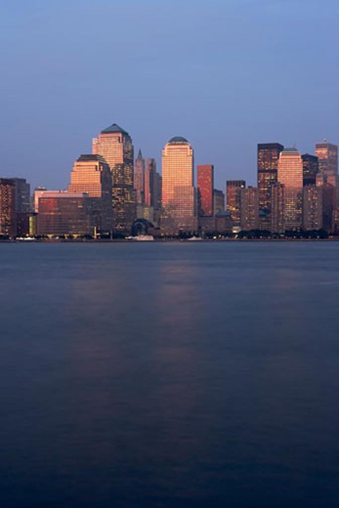 Stock Photo: 1828R-27761 Lower Manhattan Skyline, New York City, New York, USA