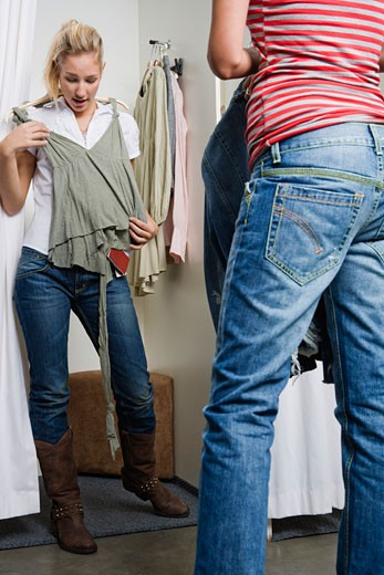 Women in Clothing Store    : Stock Photo
