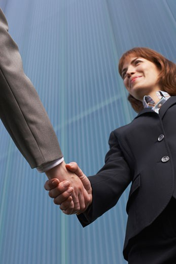 Stock Photo: 1828R-28140 Business People Greeting