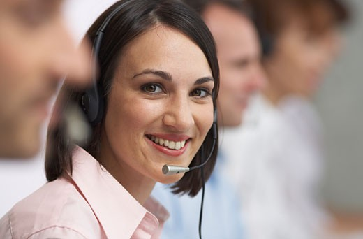 Stock Photo: 1828R-28203 Businesswoman with Headset