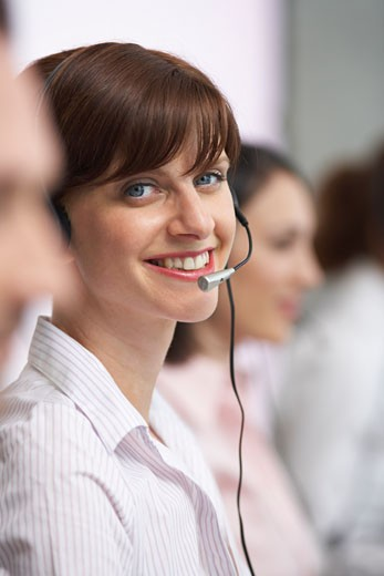 Businesswoman with Headset    : Stock Photo