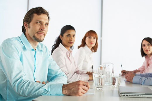 Stock Photo: 1828R-28245 Business People at Boardroom Table