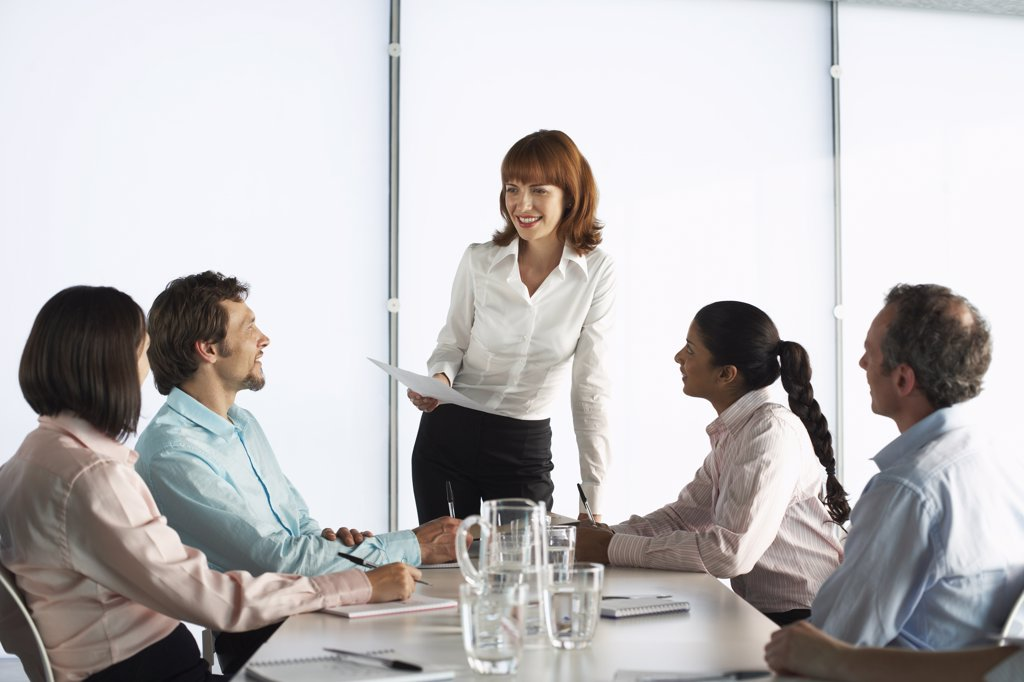 Stock Photo: 1828R-28252 Business People at Boardroom Table