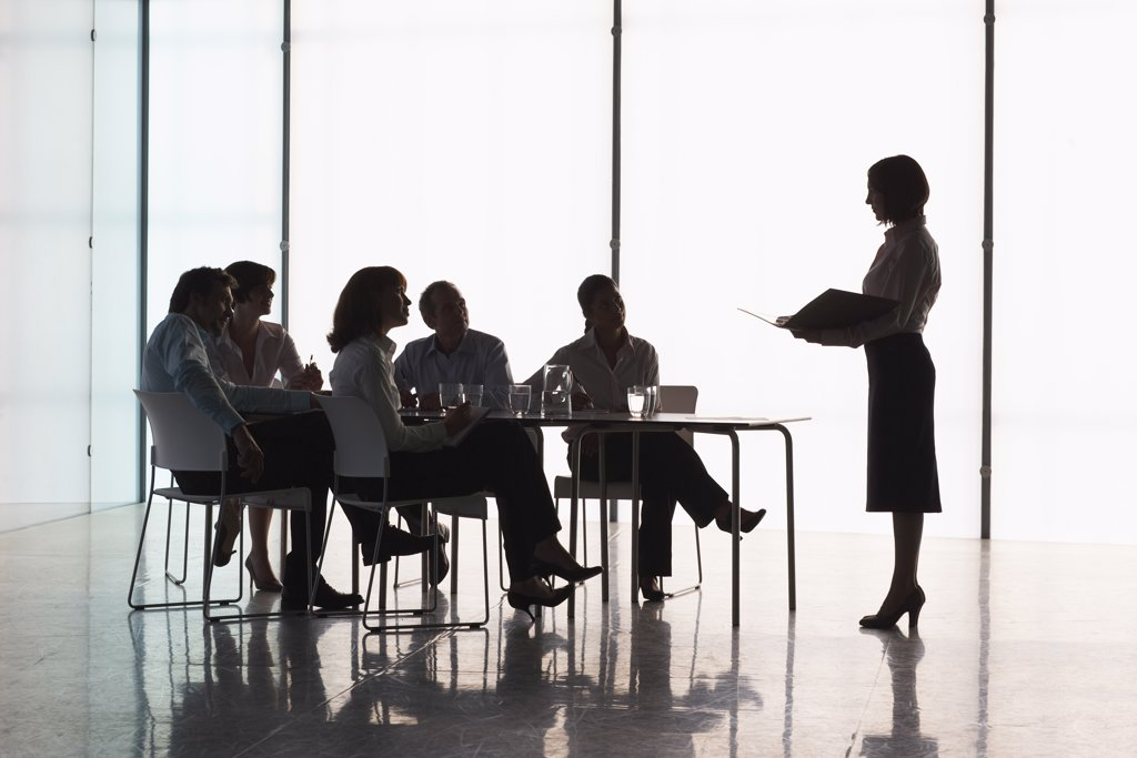 Stock Photo: 1828R-28259 Business People in Boardroom
