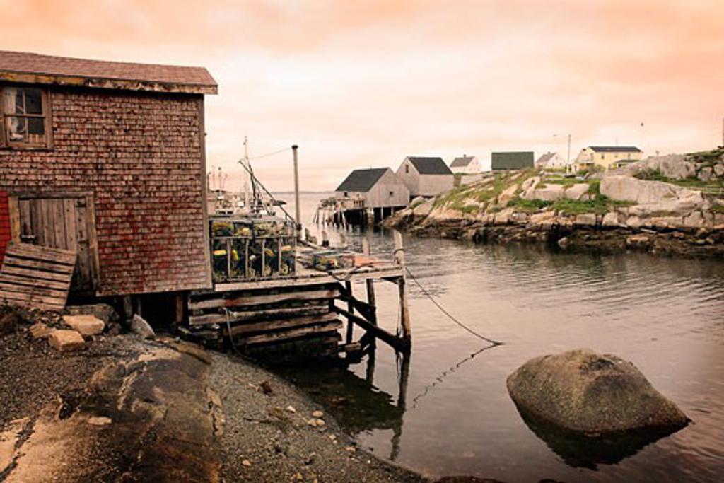 Stock Photo: 1828R-28921 Peggy's Cove, Nova Scotia, Canada
