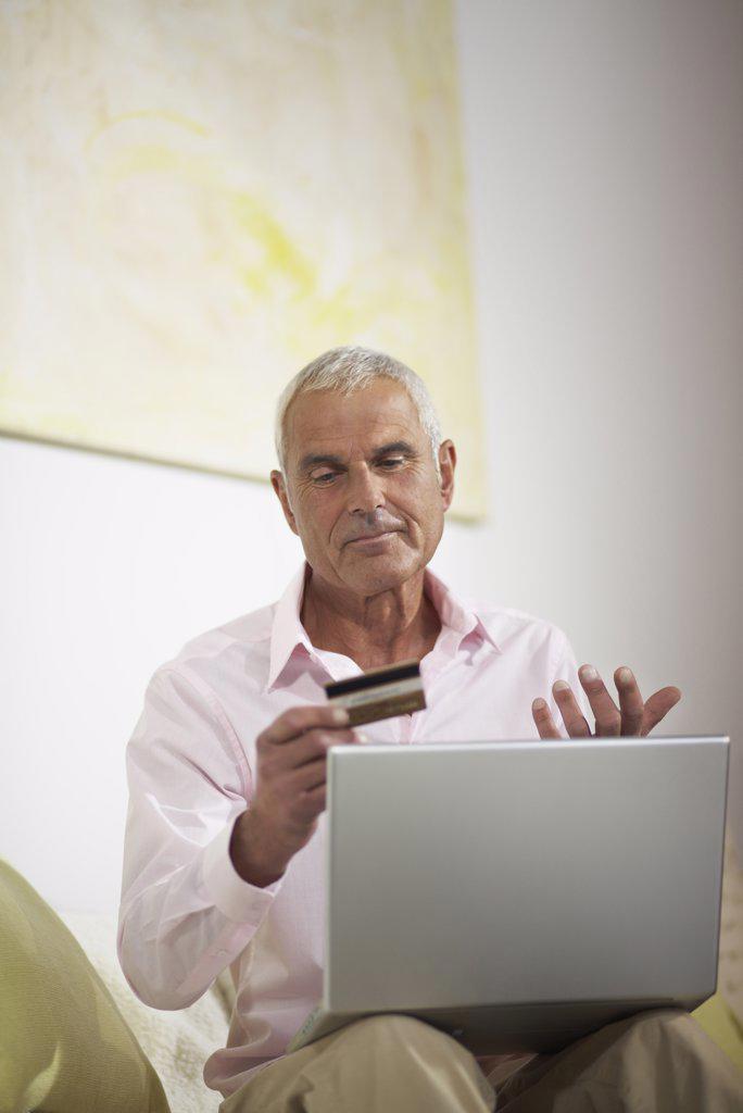 Man Using Laptop    : Stock Photo