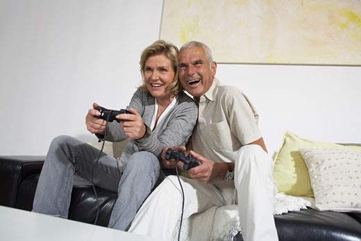 Couple Playing Video Games    : Stock Photo