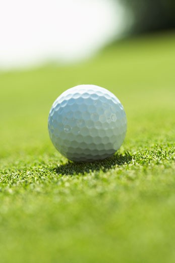 Close-Up of Golf Ball    : Stock Photo