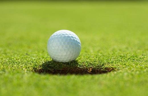 Stock Photo: 1828R-29265 Close-Up of Golf Ball