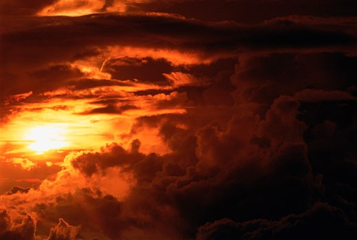 Stock Photo: 1828R-2960 Sunset Mount Kinabalu, Sabah, Borneo Malaysia