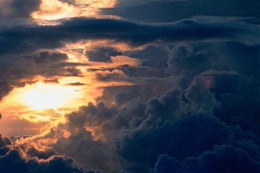 Stock Photo: 1828R-2961 Sunset Mount Kinabalu, Sabah, Borneo Malaysia