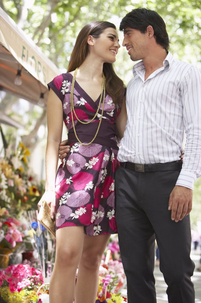 Stock Photo: 1828R-29931 Couple Walking Outdoors