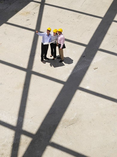 Stock Photo: 1828R-30061 Engineers at Construction Site